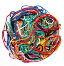 multi-colored thread