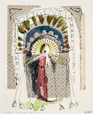 dei gentrix ©VSpain-ink, watercolor & collage elements on paper
