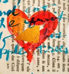 heart ©VSpain watercolor, ink, collage elements